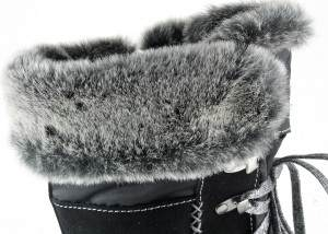 apres ski collection, santana canada, marta, black, top fur