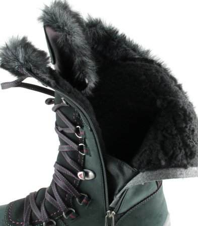 apres ski collection, santana canada, morella, black, inside fur