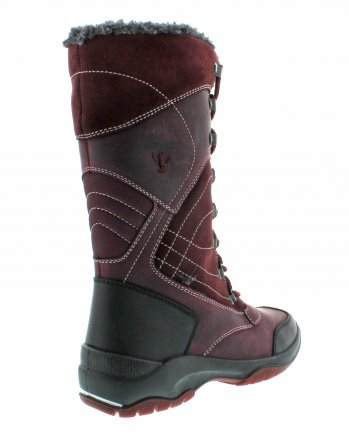 santana canada, topspeed tall, winter boot, sportismo collection, bordeaux, back
