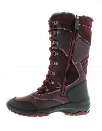 santana canada, topspeed tall, winter boot, sportismo collection, bordeaux, side